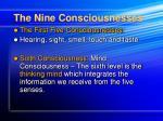 the nine consciousnesses13