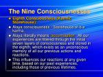 the nine consciousnesses17