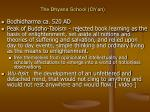 the dhyana school ch an