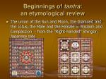 beginnings of tantra an etymological review