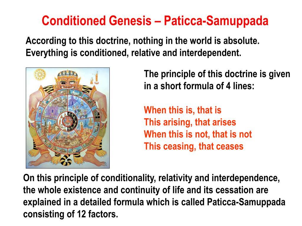 Conditioned Genesis – Paticca-Samuppada