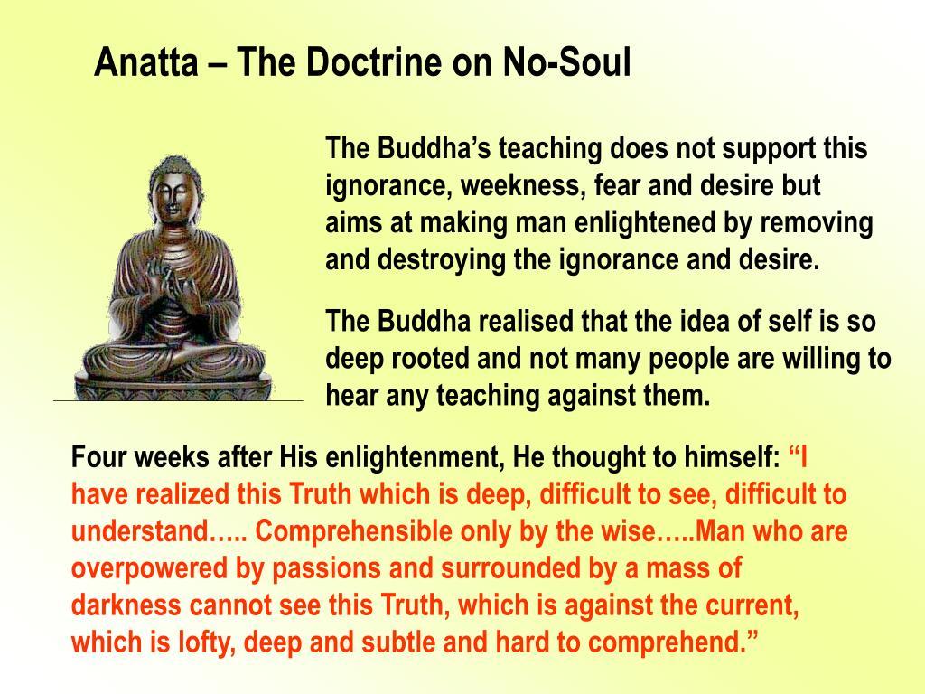Anatta – The Doctrine on No-Soul