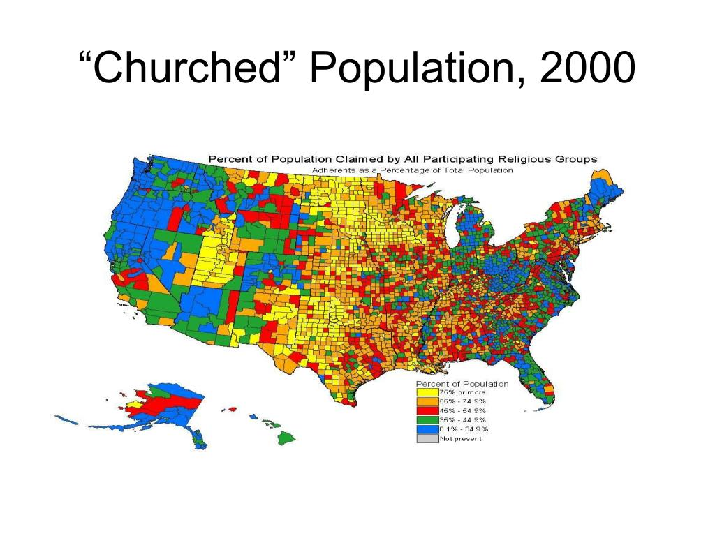 """Churched"" Population, 2000"