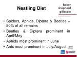 nestling diet