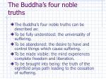 the buddha s four noble truths