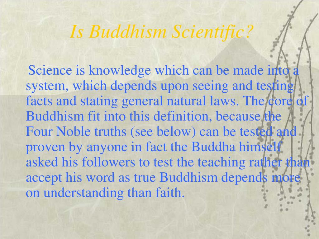 Is Buddhism Scientific?