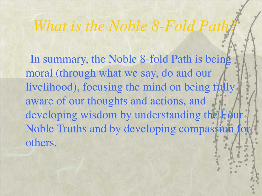 What is the Noble 8-Fold Path?