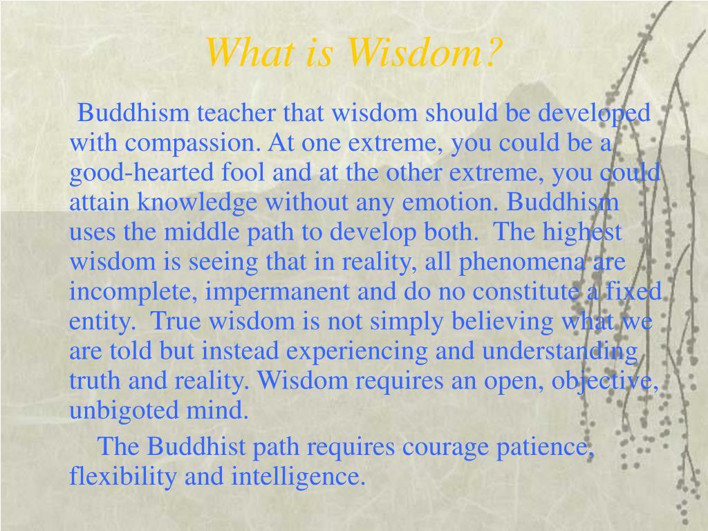 What is Wisdom?