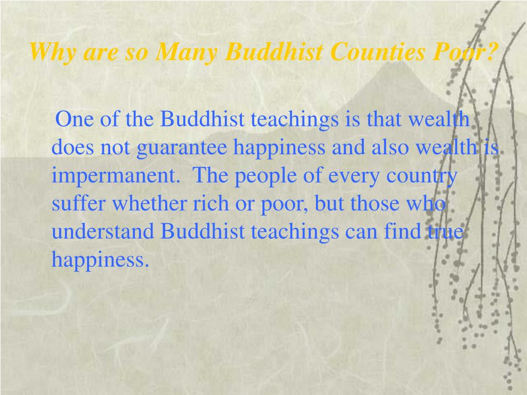 Why are so Many Buddhist Counties Poor?