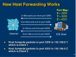 how host forwarding works
