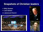 snapshots of christian leaders
