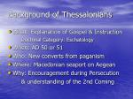 background of thessalonians