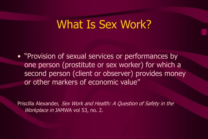 What is sex work