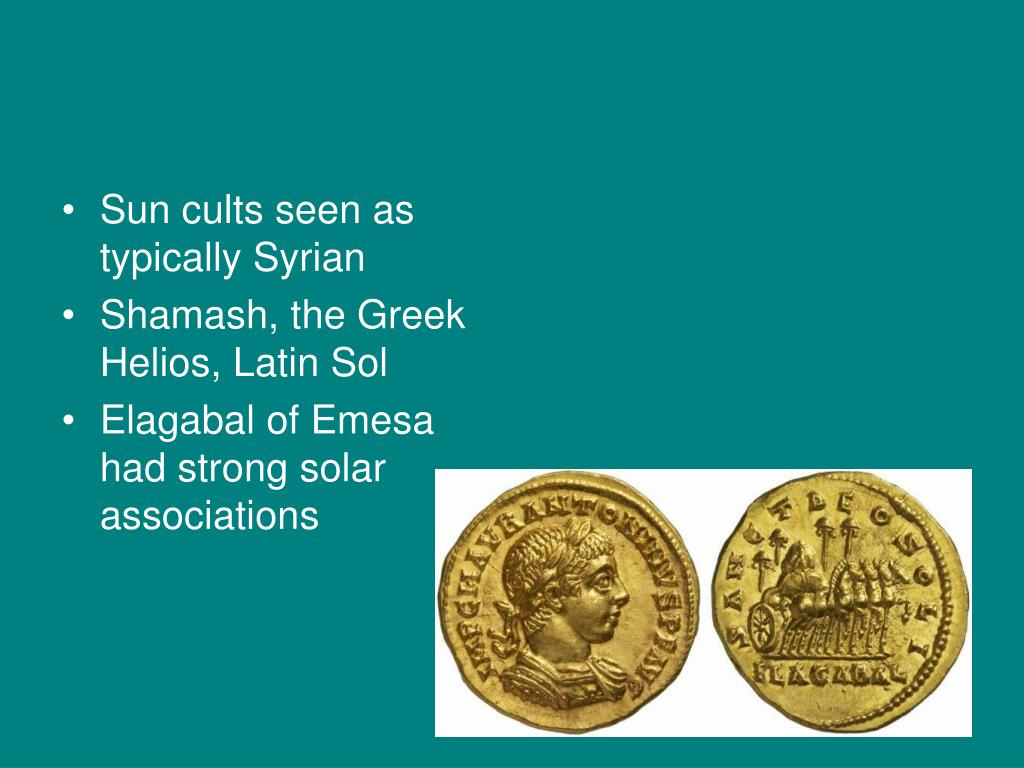 Sun cults seen as typically Syrian