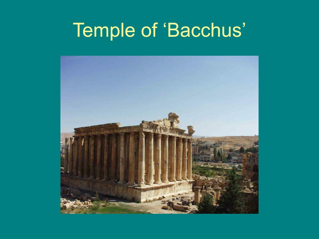 Temple of 'Bacchus'