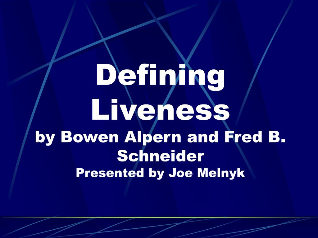 Defining Liveness
