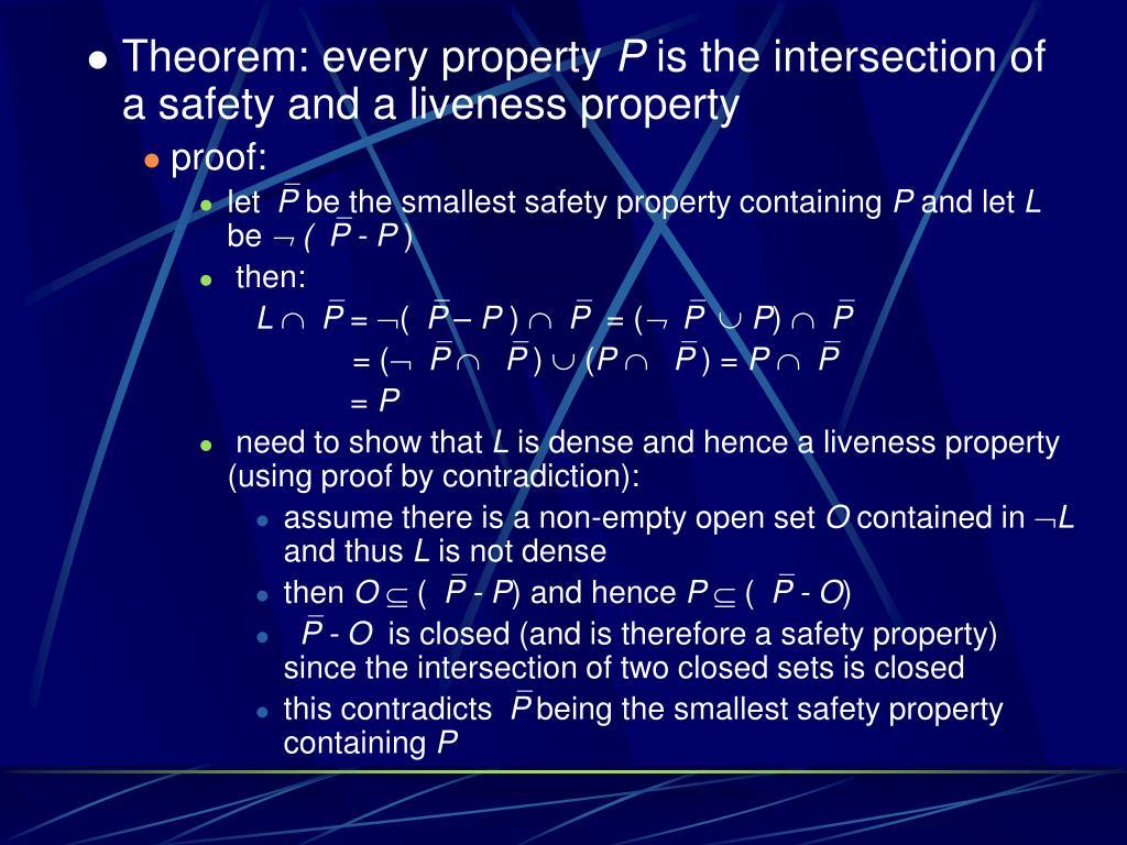 Theorem: every property