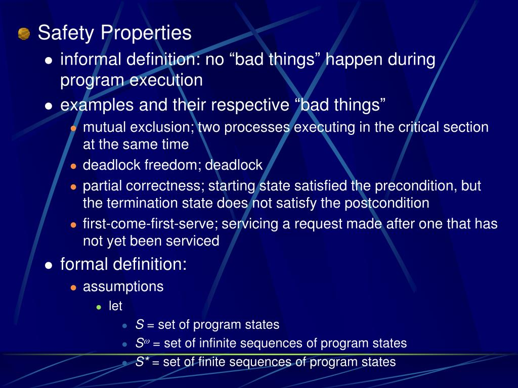 Safety Properties