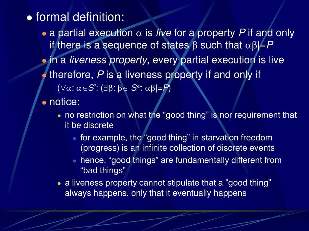 formal definition: