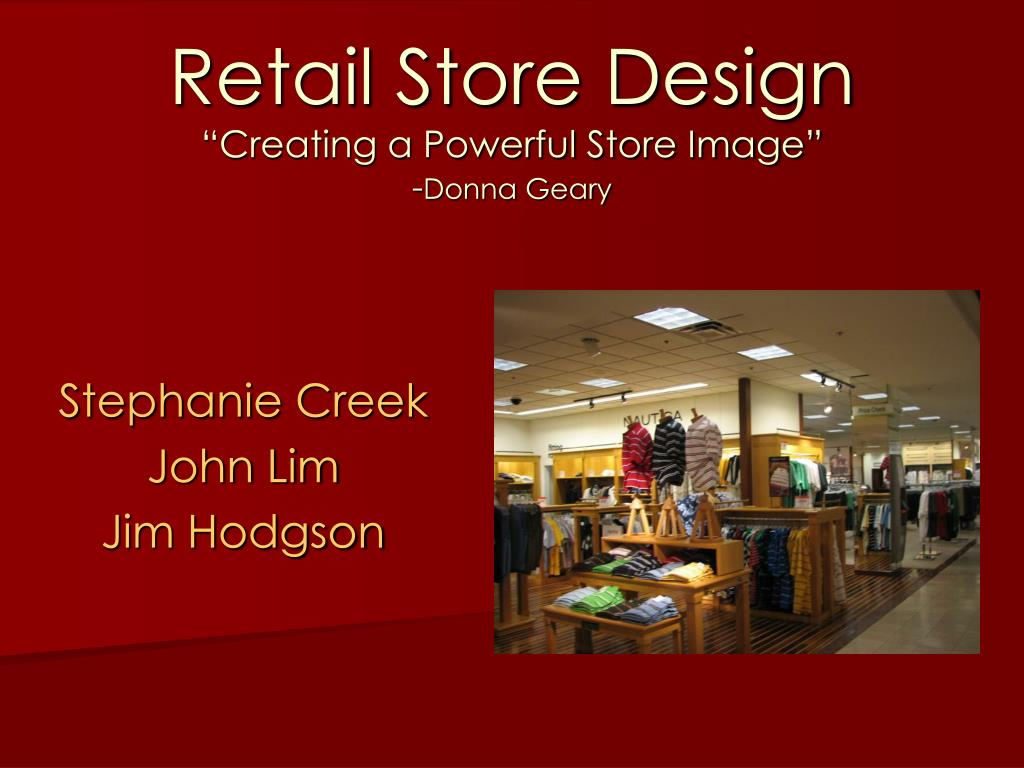 presentation and store design category