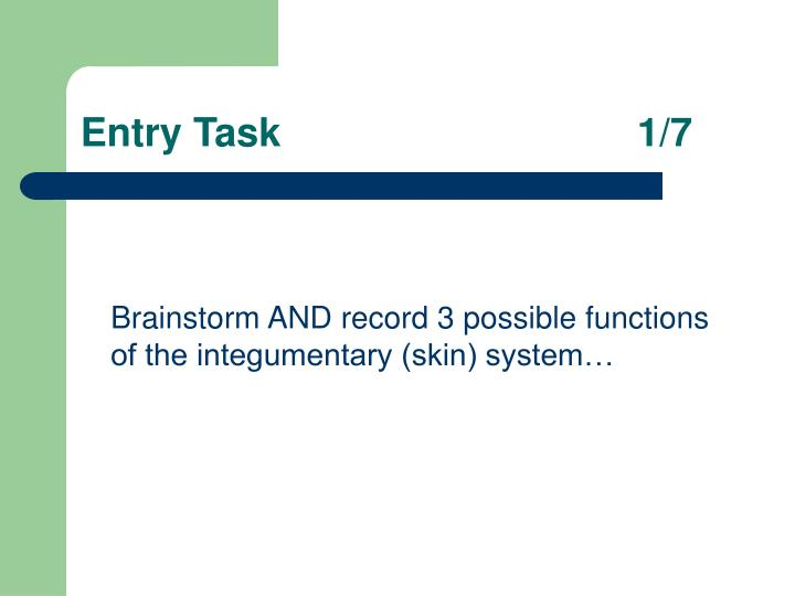 Entry task 1 7