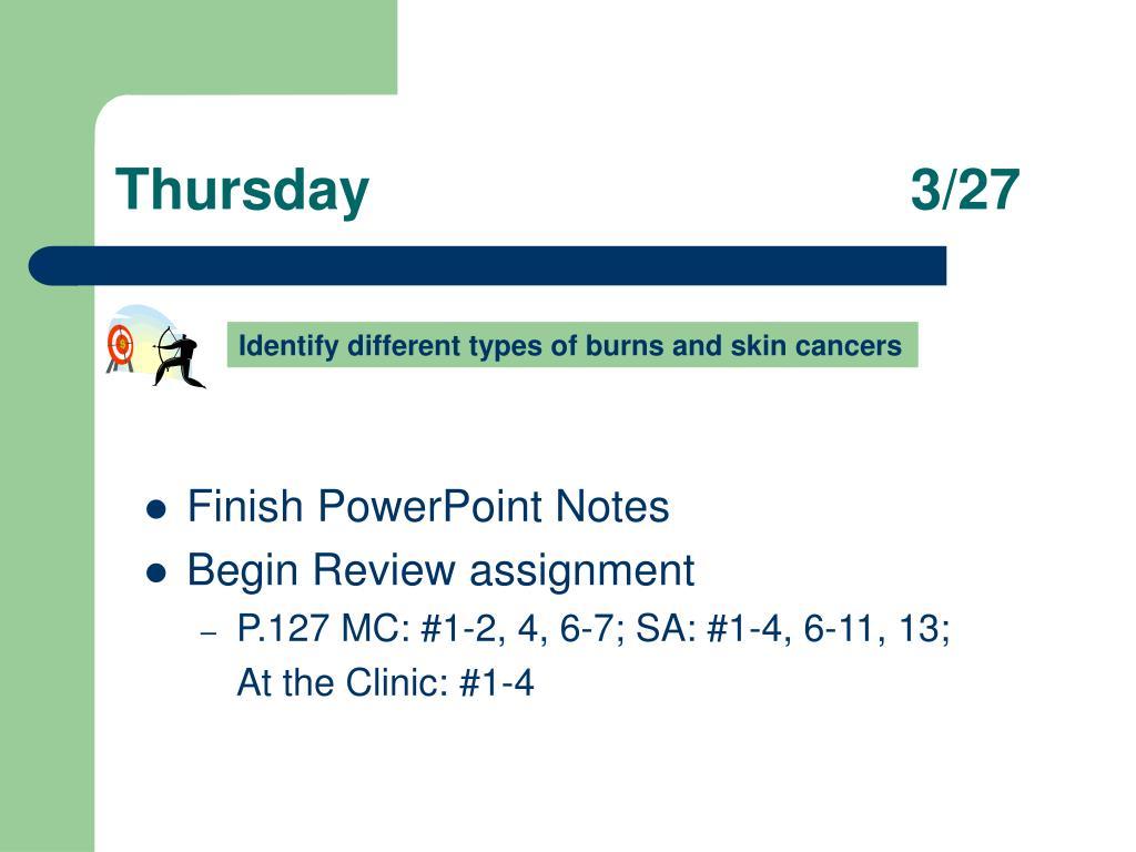 Thursday3/27