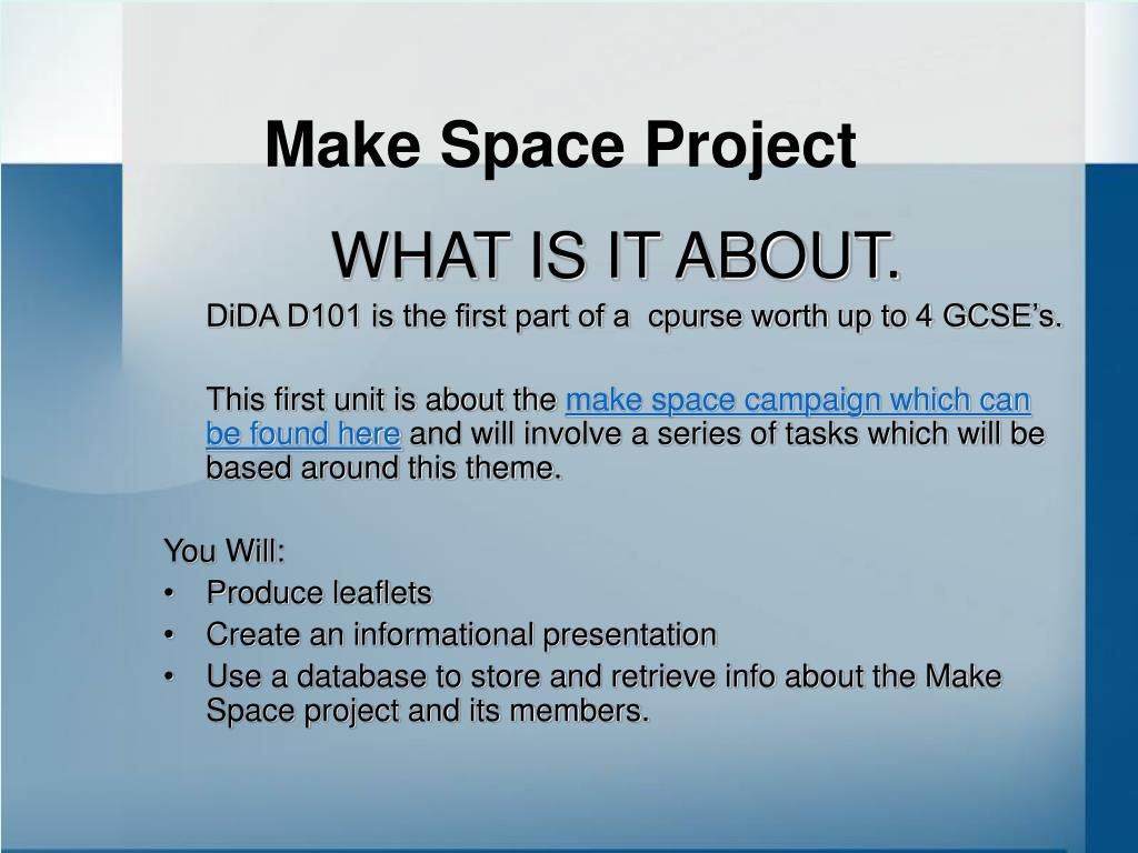 Make Space Project