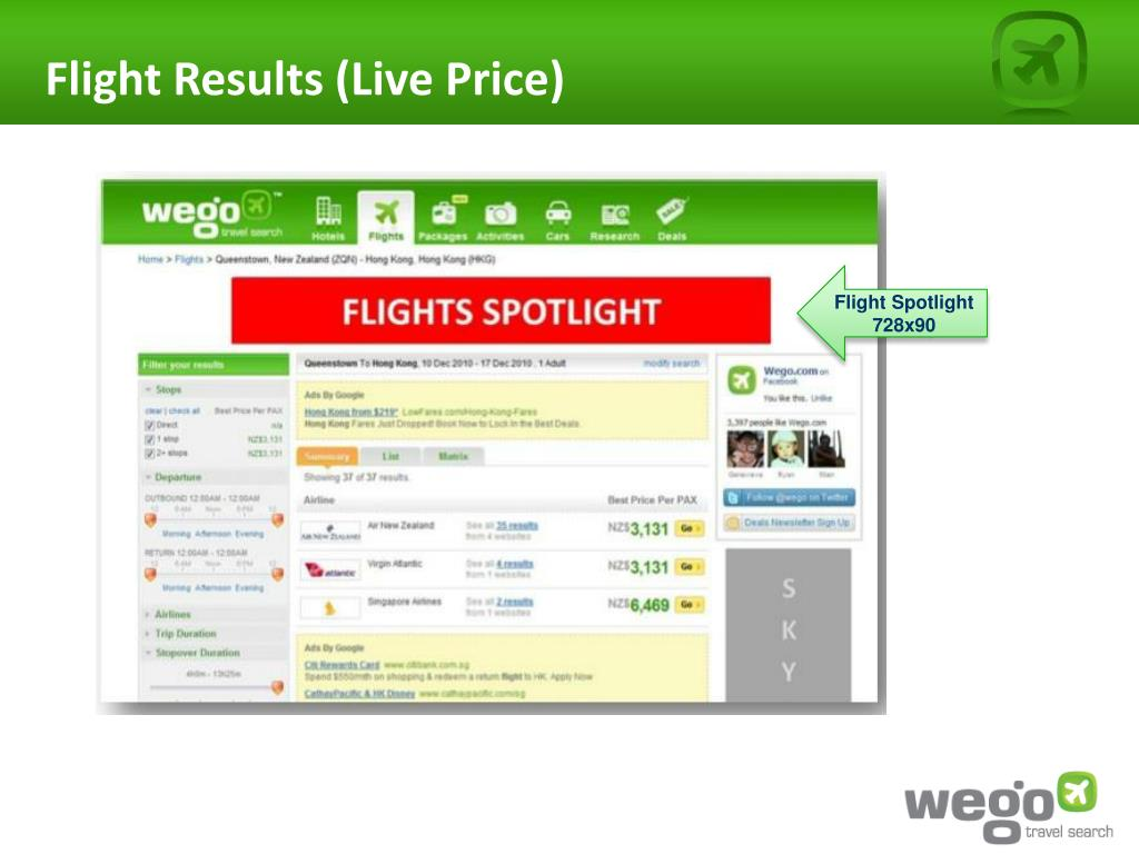 Flight Results (Live Price)
