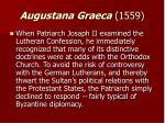 augustana graeca 1559