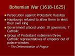 bohemian war 1618 1625