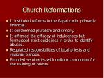 church reformations