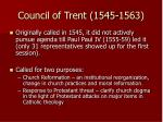 council of trent 1545 1563