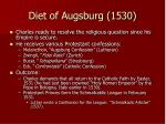 diet of augsburg 1530