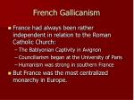 french gallicanism