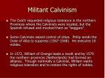 militant calvinism