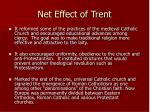 net effect of trent