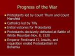 progress of the war