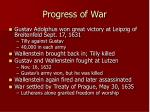 progress of war