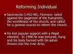reforming individual