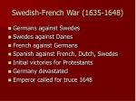 swedish french war 1635 1648
