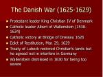 the danish war 1625 1629