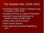 the swedish war 1630 1635