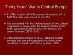 thirty years war in central europe