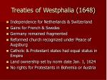 treaties of westphalia 1648
