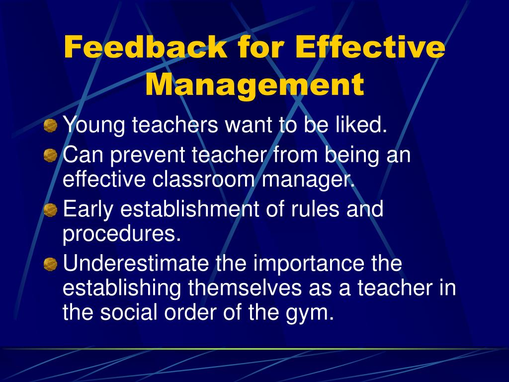 Feedback for Effective Management