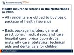 health insurance reforms in the netherlands in 2006