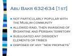 abu bakr 632 634 1st
