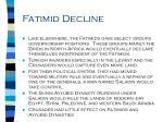 fatimid decline