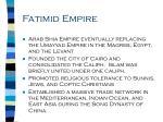 fatimid empire