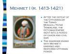 mehmet i r 1413 1421